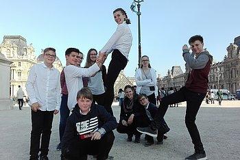Paris - Vor dem Louvre